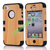 Hot Selling Antiskid Detachable Hard PC and Silicone Combo Case for iPhone 4 4S