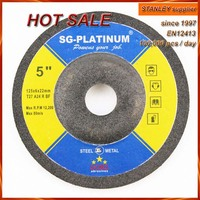 "125x6.0x22.2mm 5"" cutting and grinding disc for metal and inox"