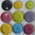 bulk stock cheap color glazed stoneware dishes