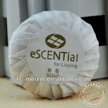 20g shiny paper pleat wrapped small hotel soap,toilet soap,hotel amenity for 5 stars hotel