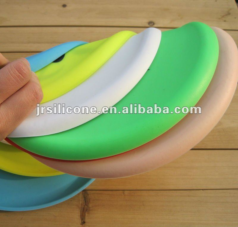 Custom silicone toys soft dog frisbee