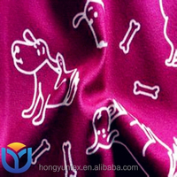 100% polyester warp knitted printing imitate cotton velvet fabrics for garment and home textile
