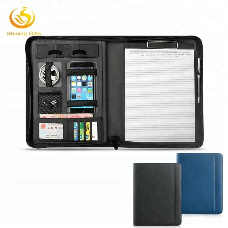 Multifunction File Folder Expandable Business Organizer A4 Leather Portfolio Folders