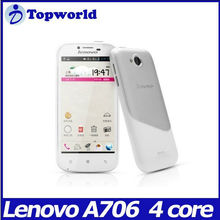 "Android 4.1 smart phone mtk6589 quad core Lenovo mobile phone 4.5"" screen lenovo A706"
