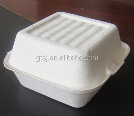 biodegradable disposable sugarcane hamburger box