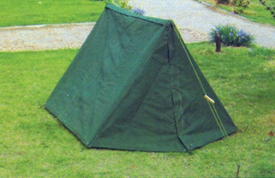 two leaves single soldier tent
