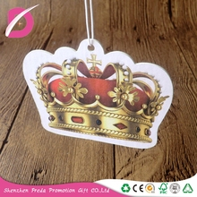 Promotional crafts custom shaped paper bulk car air fresheners car perfume