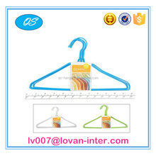popular wholesale best sell PE coated metal wire coat cloth hanger