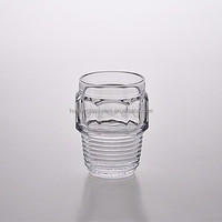 Unique High Quality Glassware Screw Style Water Glass Cup