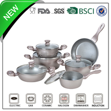 11pcs aluminum nano cookware with silicon handle