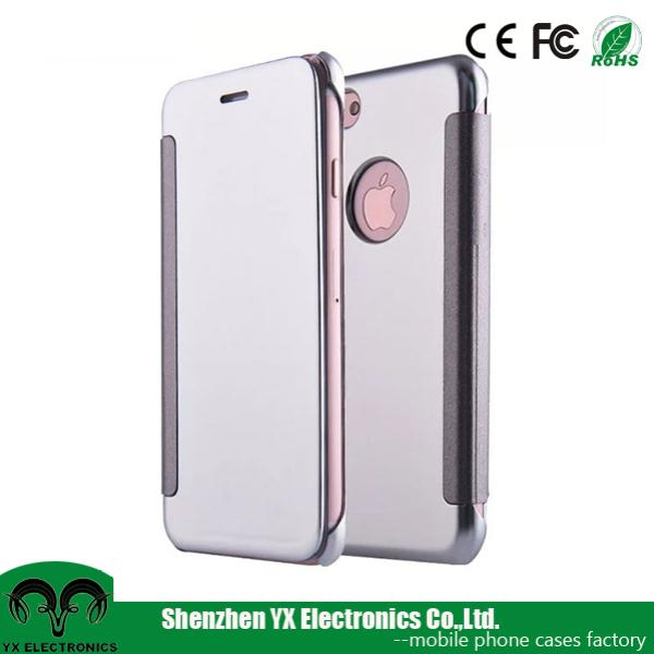 Ultra Thin Slim Clear View Transparent Smart Flip Cover Case for iPhone 7 plus