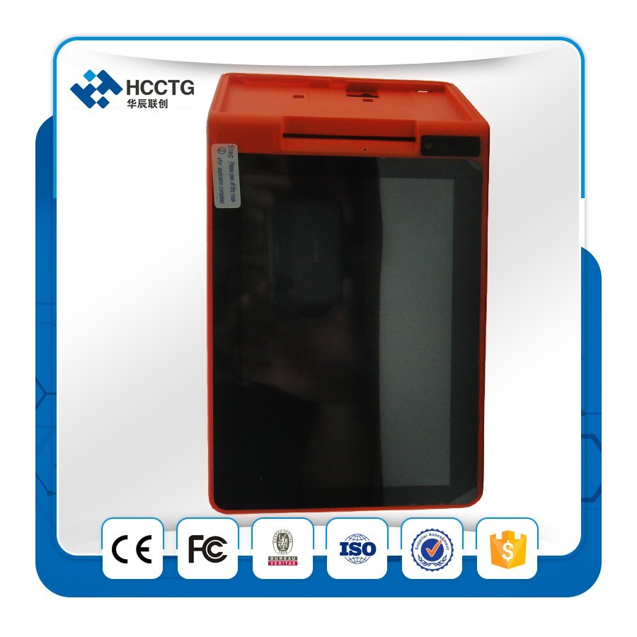 "7"" Android POS Terminal With Receipt Thermal Printer QR Barcode Scanner 3G All In One HPC901"