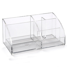 Functional Acrylic Desk Organizer, Clear Perspex Stationery Sundries Table Holder