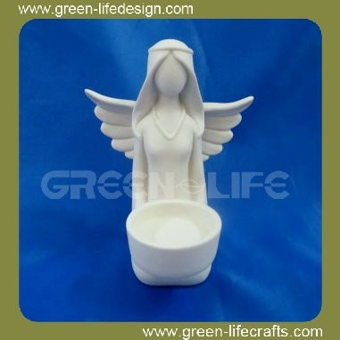 New product porcelain angel candle holder
