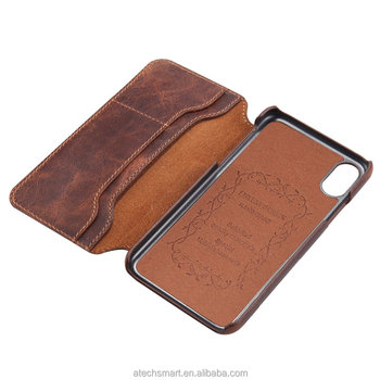 Luxury Genuine Leather Phone case cover Wallet case, for iphone 6/7/8/X genuine leather case