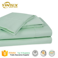 King/Queen Size Bedding Set Soft Cheap 90gsm Microfiber Bed Sheets