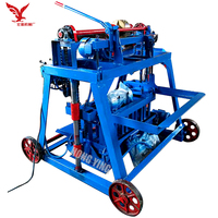 Factory Price Saudi Arabia Semi Automatic Mobile Manual Hollow Concrete Cement Block Making Machine