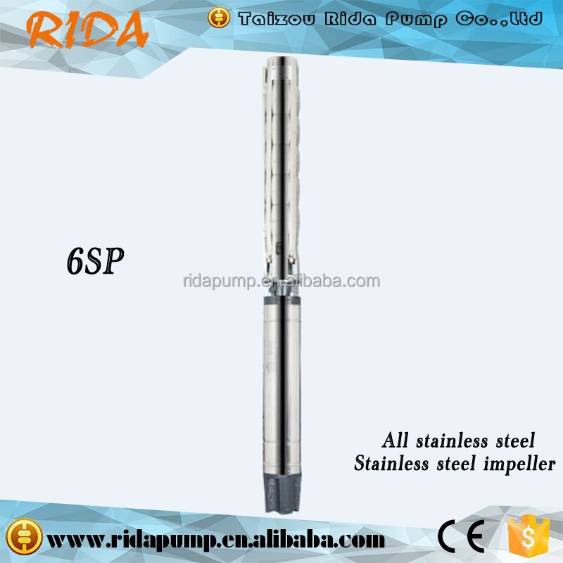 Stainless Steel High Capacity Deep Well Pump Submersible Water Pump