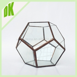 2015 newly developed popular home decoration plant terrarium, Wholesale sets clear geometric crystal glass terrarium fish tank