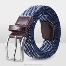 Hotselling Waist Elastic Stretch Woven Rope Belts For Mens And Woman