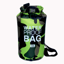 China Manufacture Promotional Custom logo Camo Waterproof Dry Bag Polyester Lightweight Fold Bag
