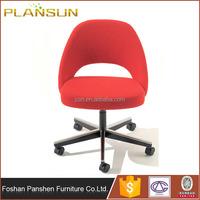 high quality curved fiberglass shell Eero Saarinen Executive office desk Side Chair