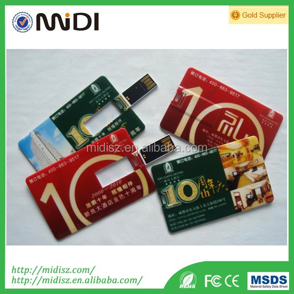 Factory Supplier card type usb flash memory stick free logo printing credit card, usb 8gb