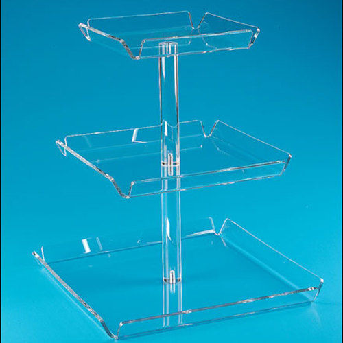 3 Tiers Clear Acrylic Cupcake Display Stand Lucite Dessert Holder