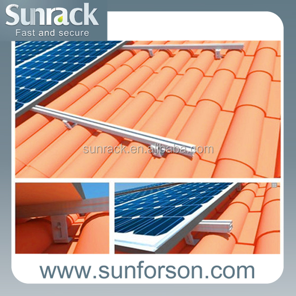 Aluminum Solar Panel Racking System/Solar Panel Supporting Structures