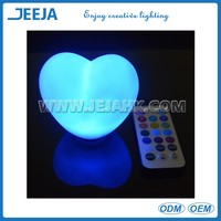 heart shaped box valentine greeting card car remote control battery operated led sensor light