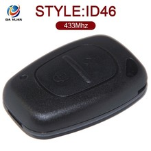 Free Shpping smart control key for Renault 2 Button 433MHz ID46 PCF7946 AK010004