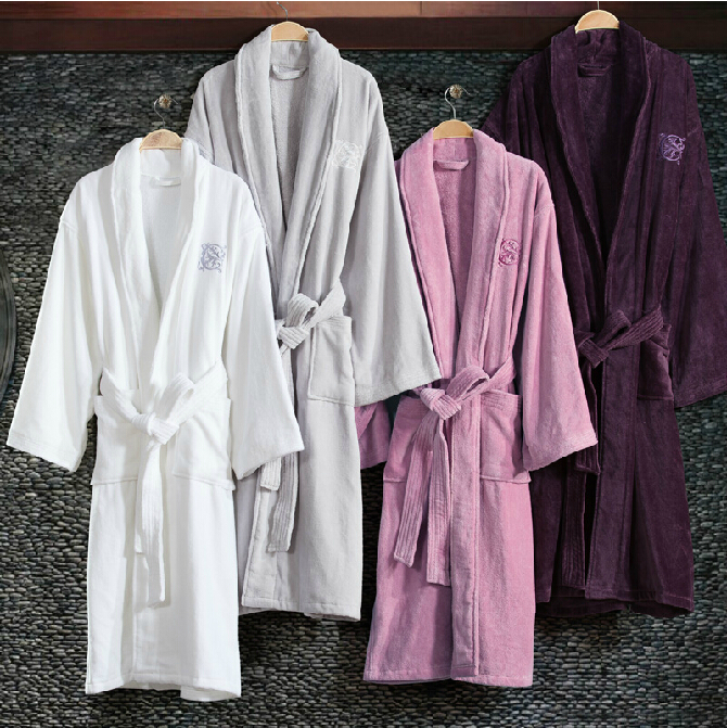 China Supplier Cotton Pineapple Bathrobe For Wholesales