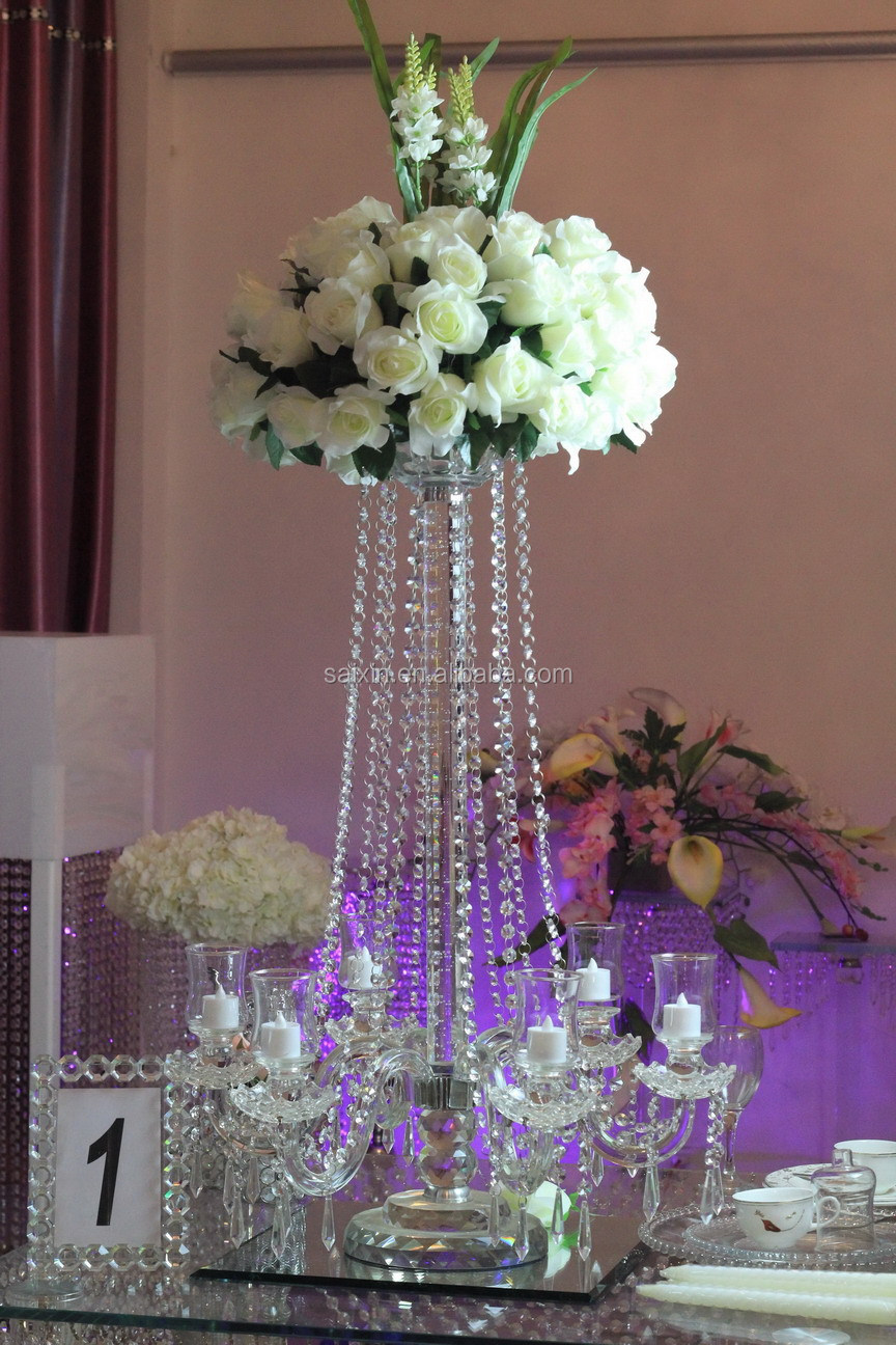 New crystal candelabra wedding event centerpieces zt