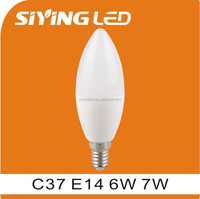 china supplier Housing C37 7w led bulb E14
