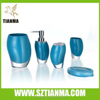 Bule bathroom accessories set china supplier