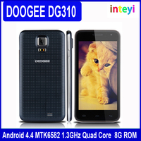 Original New DOOGEE DG310 Android 4.4.2 MTK6582 Quad Core 1.3GHZ Spanish/Russian/Hebrew Language Mobile Phone 2G/3G Smartphone