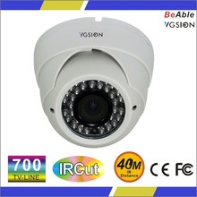 Low Price 700 TVL CCD Waterproof IR Indoor Plastic Dome Camera