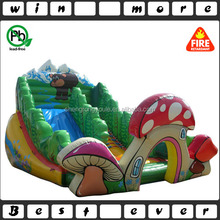 forest theme mushroom arch inflatable slide for kids,cheap giant park inflatable slides for sale