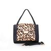 Womens Handbags and Purses 2017 Genuine Leopard Leather Ladies Tote Handbag with Long Trap
