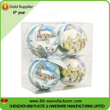 Personalized decorative boxed christmas ornament balls
