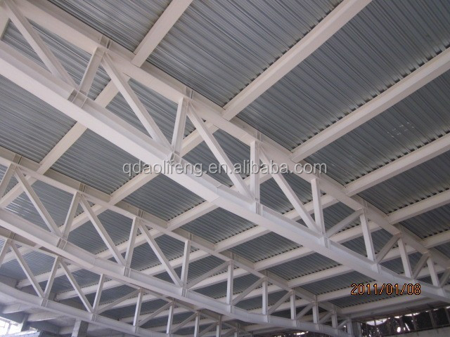 color steel sandwich panel not only easy installation high strength protuction environment but also defensive fire and heat preservation - Metal Roof Trusses