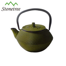 Wholesale Green Enamel Cast Iron Tea Pot Turkish Coffee Kettle