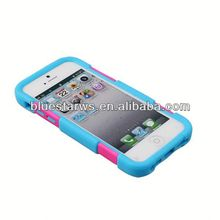 Customs cell phone case pc silicone combo case for iphone 5