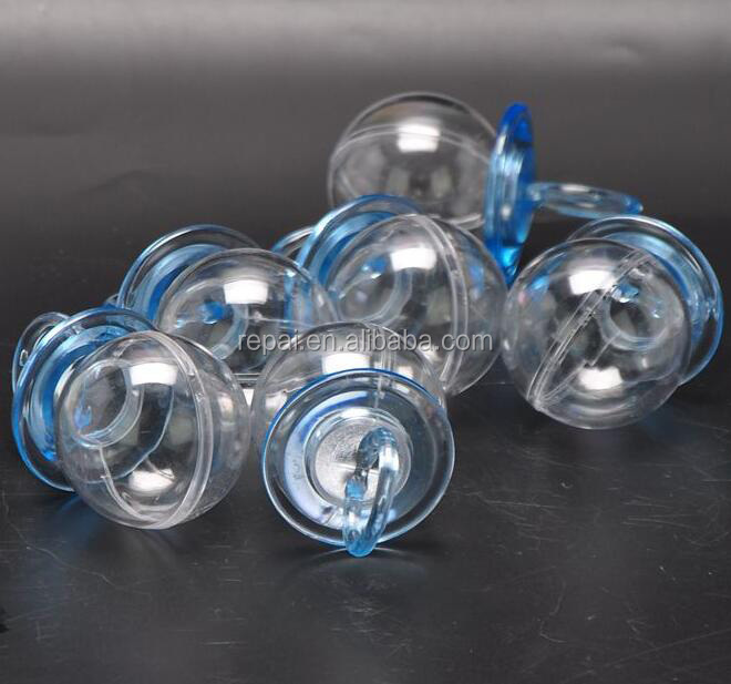 Fillable Pacifier Blue For Baby Shower Favors Party Decorations