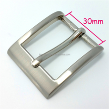 Customized zinc alloy metal pin leather belt buckle 30mm for men and women