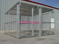 Haotian large galvanized welded mesh dog kennel panel up to 10m factory