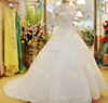 Crystal Beaded Ball Gown Floor Length Custom Made Formal Bridal Gowns Design Luxury HS322 high neck wedding dresses