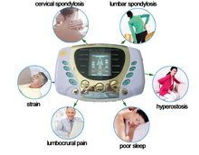 tens electronic pulse massager with heating funciton and laser therapy/ceragem therapy