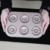 6 cavity gold carbon steel cake baking mould madeleine baking tray cookie pan Donut Pan