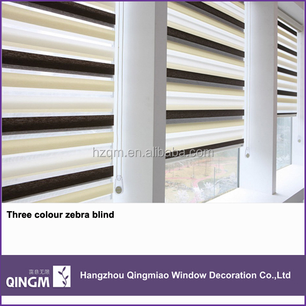 Various Colors Office Window Blinds Zebra Curtain Shades